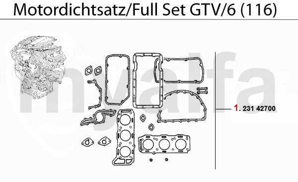 Pochette joints GTV/6