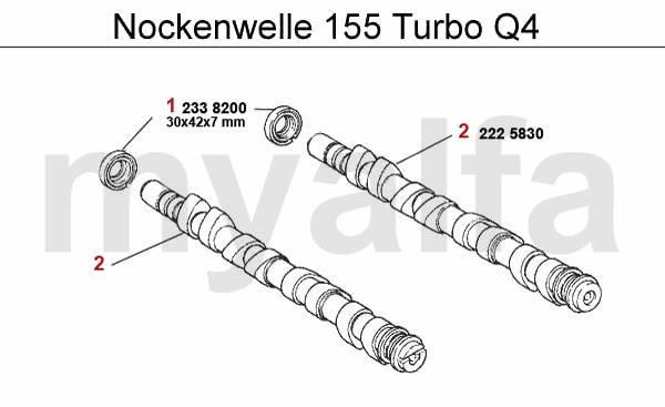 alfa romeo alfa romeo 155 valve gear turbo q4 16v camshaft