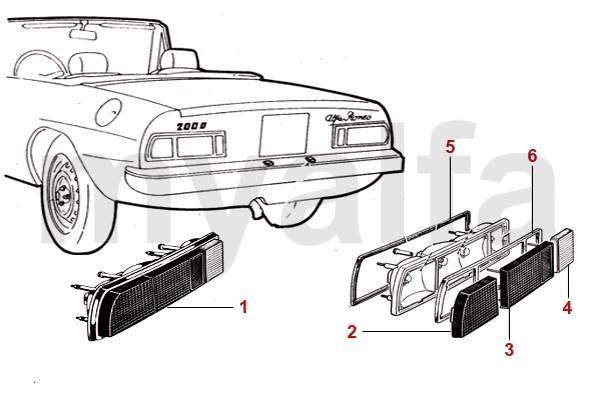 Feux arrière 70 -82