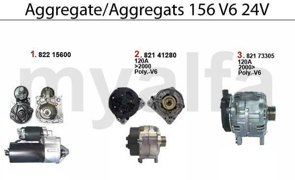 démarreur/alternateur V6 24V