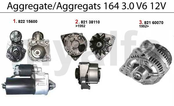 démarreur/alternateur 3.0 V6 12V