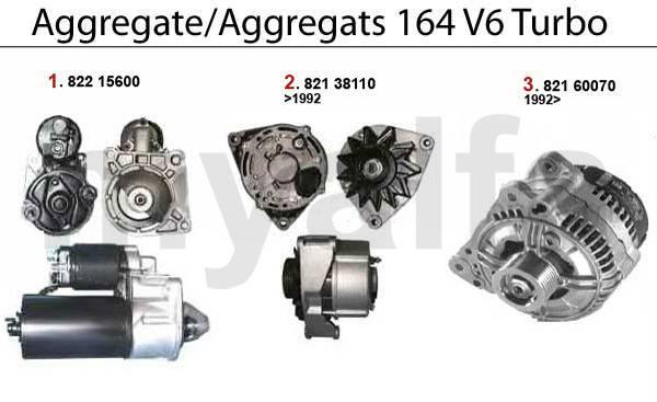 démarreur/alternateur 2.0 V6 Turbo