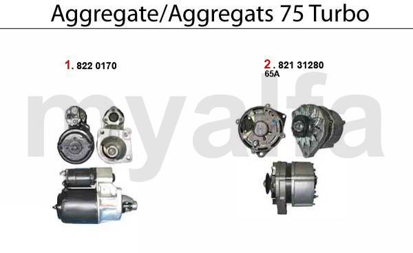 démarreur/alternateur 75 Turbo