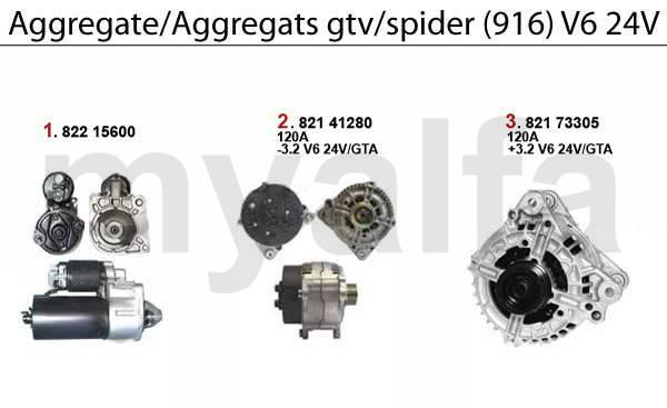 démarreur/alternateur 3.0/3.2 V6 24V
