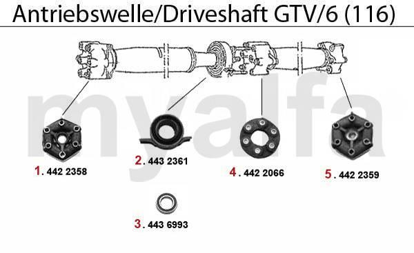 Arbre transmission GTV/6