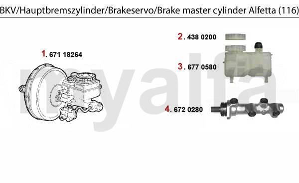 Maître-cylindre/servo