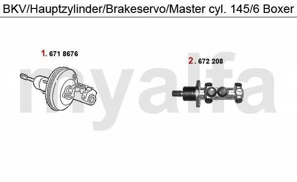 maître cylindre/servofrein Boxer