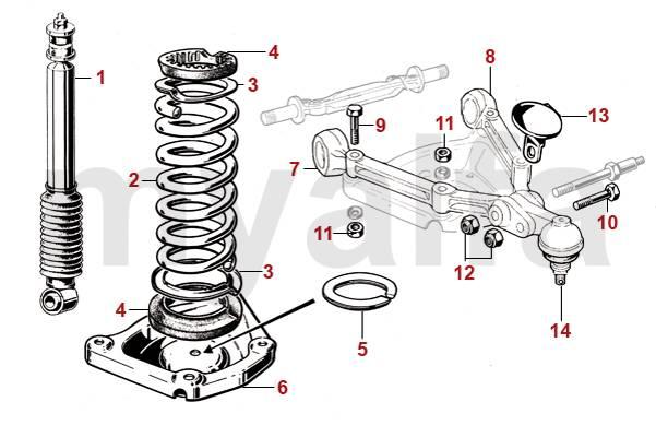 front end suspension parts diagram 105 spider parts 105