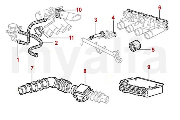 alfa romeo spider  105  115  versions injection durits et