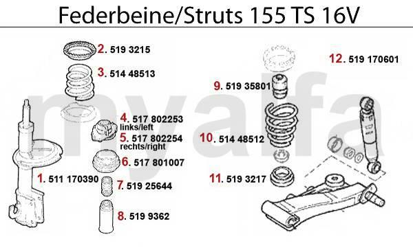amortisseurs TS 16V