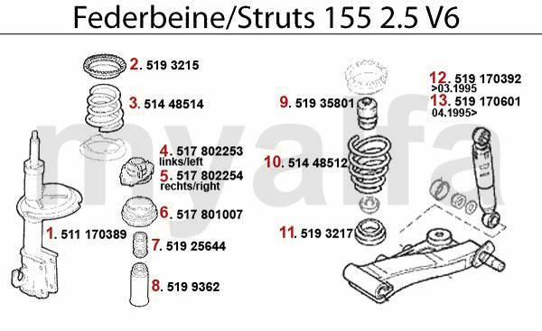 amortisseurs 2.5 V6