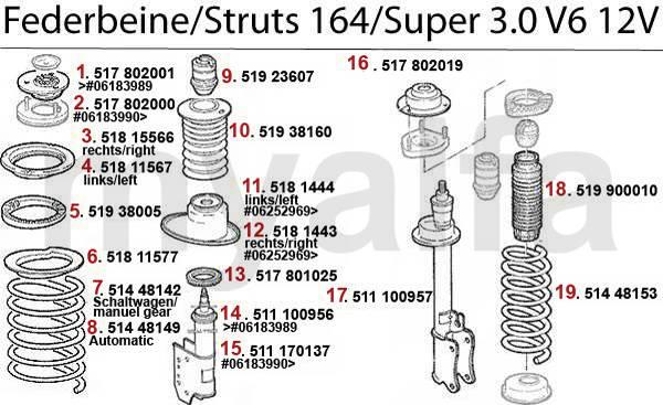 amortisseurs 3.0 V6 12V