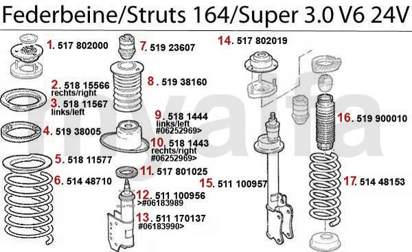 amortisseurs 3.0 V6 24V