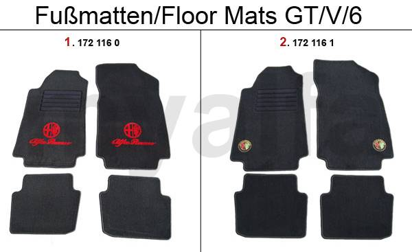 alfa romeo tapis de sol am nagement int rieur alfetta gtv4 gtv6 116 pi ces. Black Bedroom Furniture Sets. Home Design Ideas