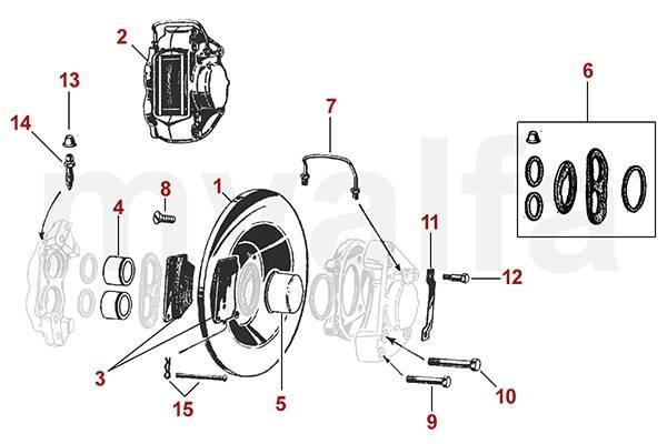 montage freins à disques