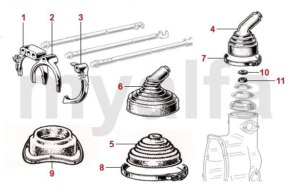 [SCHEMATICS_4HG]  Alfa Romeo ALFA SPIDER (105/115) TRANSMISSION GEARBOX ALFA SPIDER (105/115) TRANSMISSION  GEARBOX   Alfa Romeo Transmission Diagrams      Victor Parts