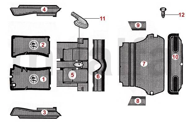 Tapis caoutchouc 1970-79
