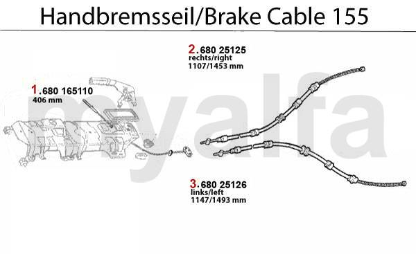 cable frein à main