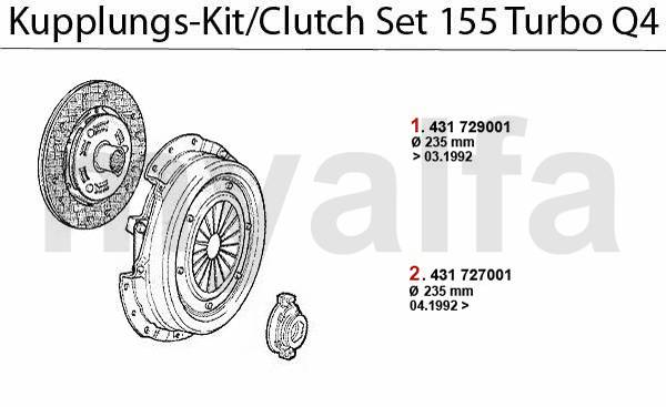 kit embrayage Turbo Q4 16V