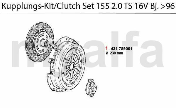 kit embrayage TS 16V  >4.96