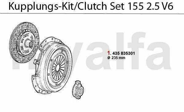 kit embrayage 2.5 V6