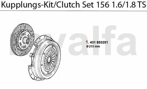 kit embrayage 1.6/1.8 TS 16V
