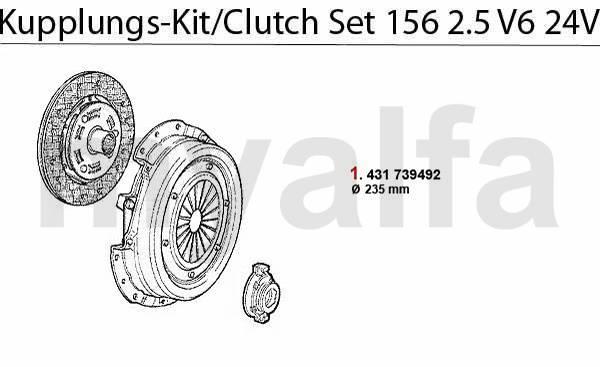 kit embrayage 2.5 V6 24V