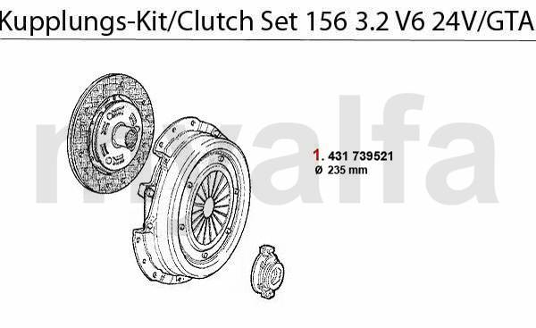 kit embrayage 3.2 V6 24V/GTA