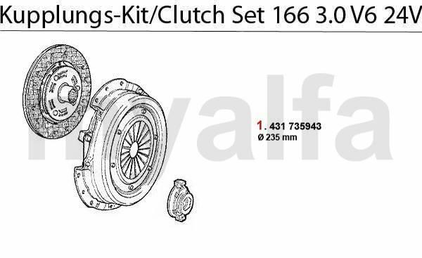 Kit embrayage 3.0 V6 24V