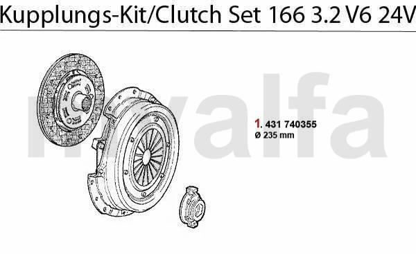Kit embrayage 3.2 V6 24V