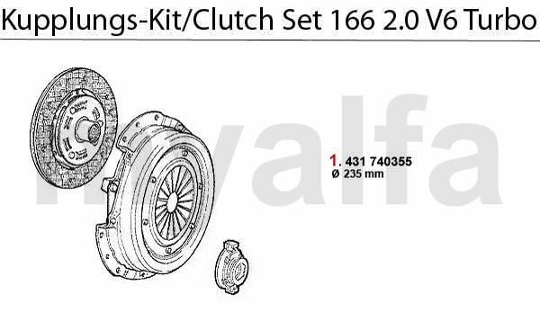 Kit embrayage 2.0 V6 Turbo