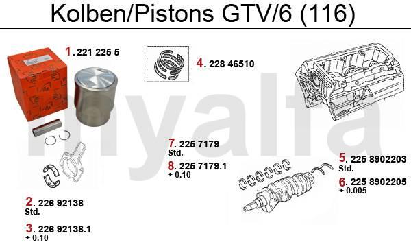 Pistons/Coussinets GTV/6
