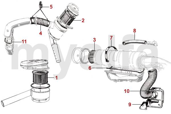 alfa romeo giulia 4p filtre  u00e0 air