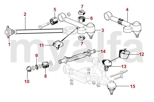 alfa romeo rotules de suspension