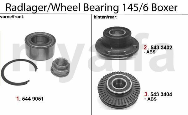 roulements de roue Boxer  >96