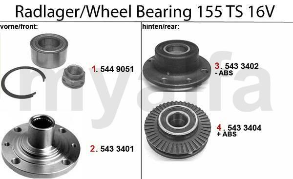 roulements de roue TS 16V