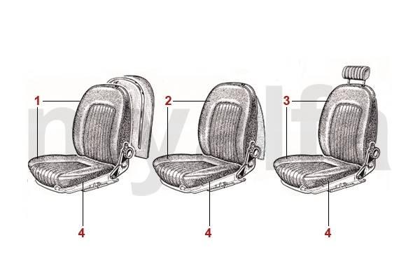 Coiffes de sièges 1966-69