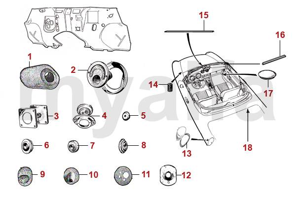 alfa romeo spider  105  115  joints divers joints et passe