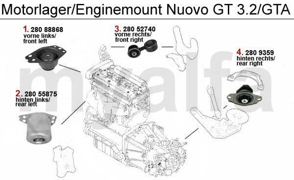 Supports moteur 3.2 V6 24V