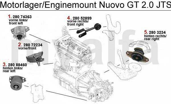 Alfa Romeo NUOVO GT Engine mount Engine, Engine Parts & Alfa Romeo