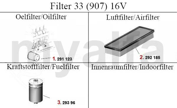 filtres (907) 16V