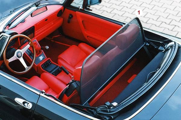 Alfa Romeo SPIDER TOP COVERS WIND DEFLECTOR - Alfa romeo spider car cover