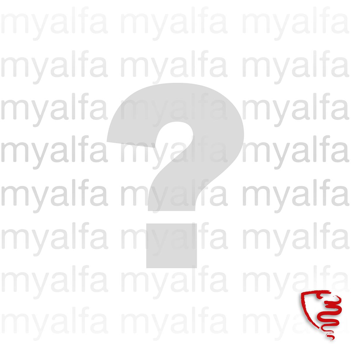 Emblème à coudre 'squadra myalfa' 9.1x6.5cm